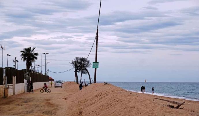 Els efectes del Glòria sobre el litoral en aquesta part del Maresme són encara molt visibles. Font: Ignasi Robleda