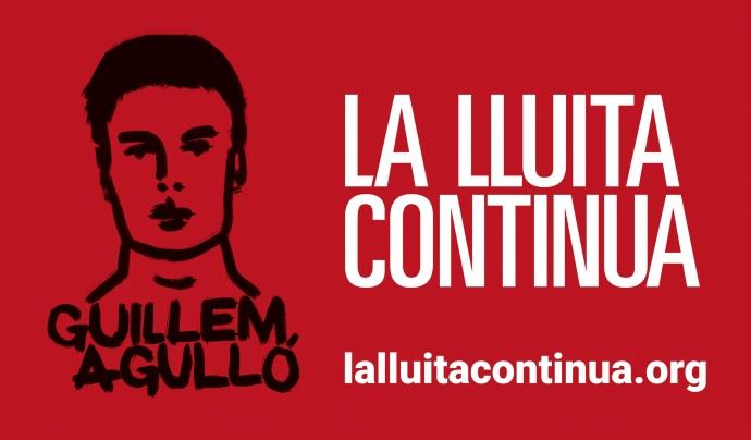 Cartell de la campanya 'La lluita continua' en homenatge a Guillem Agulló Font: La lluita continua