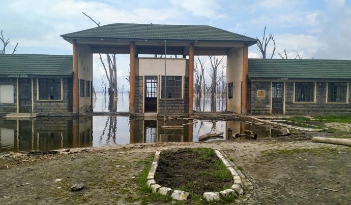 Inundació a l'entrada del Lake Nakuru National Park a Kènia. Font: Eli Pallarés
