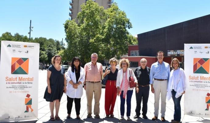 Els representants de les entitats organitzadores de la Setmana commemorativa del Dia Mundial de la Salut Mental 2017  Font: Generalitat de Catalunya