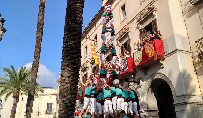 Actuació d'els Verds a la Diada Castellera de Vilanova el 28 d'agost
