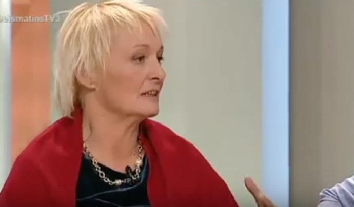 Emilia Català, secretària de l'associació, participa a Els Matins de TV3. Font:  Banc de Productes no Alimentaris