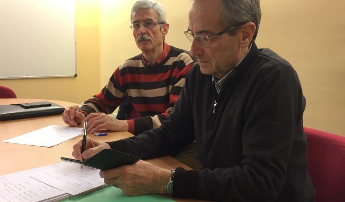L'Estanislau i el Manel formen part de la la Comissió d'Acció Social - Foto: Joan Rosinach