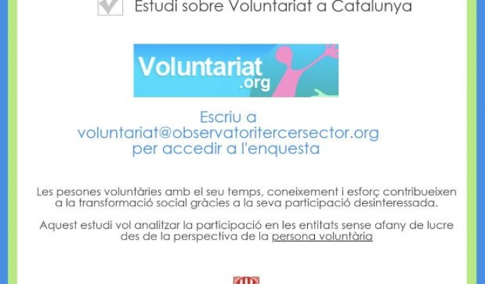 Enquesta etudi voluntariat