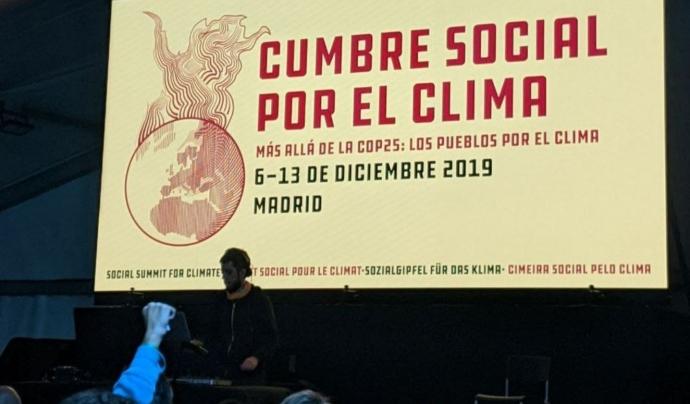 La Cimera social es va prendre com una 'contra COP'. Font: FFF