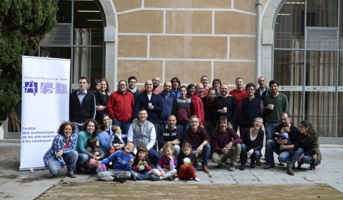 Membres de l'Associació Gironina de Teatre.