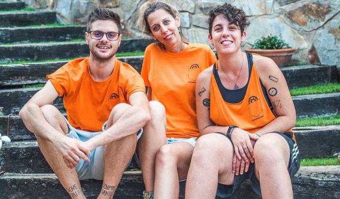 L'equip actual del canal BonDiaMon: Noemí, Ari i Aitor.