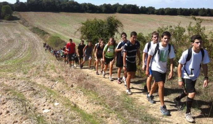 Alumnes de Ginebró fent una sortida al camp Font: Escola Ginebró
