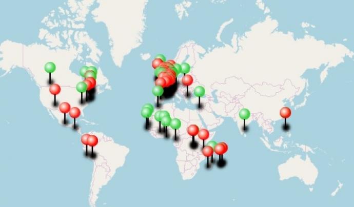 Mapa d'esdeveniments del Dia Internacional per a l'Eradicació de la Pobresa. Font: Stop Poverty