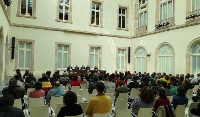 Fedataris i fedatàries a la comissió de control de la ILP Montseny al Parlament de Catalunya. Font: ILP Montseny