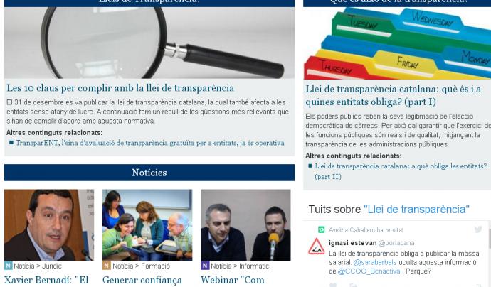 Especial sobre transparència de Xarxanet Font: Xarxanet