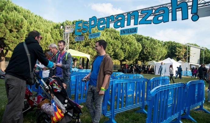 Entrada al recinte del Festival Esperanzah 2015. Font: Violeta palazón- Festival 1025