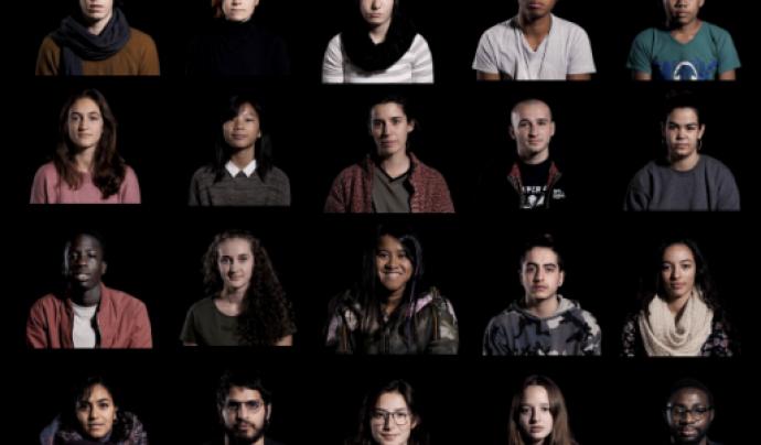 Mosaic amb fotografies de joves que han participat a l'espot