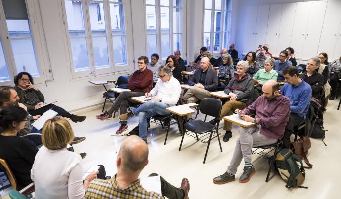 La Federació d'Ateneus ja va organitzar el mes passat una taula rodona sobre educació amb l'Aliança Educació 360º Font: Toni Galitó