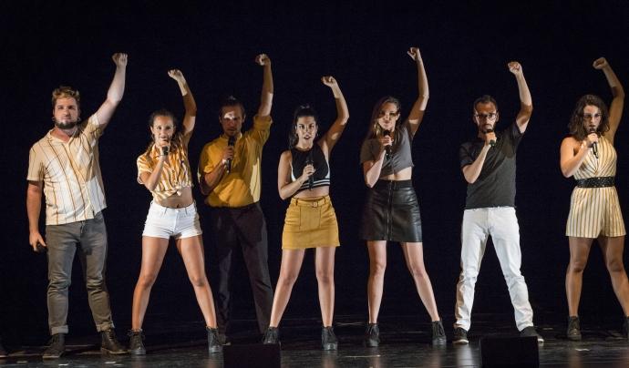 A Grup Vocal és una formació de joves que han hagut d'aprendre's els himnes d'avis i pares (Foto: Toni Galitó)