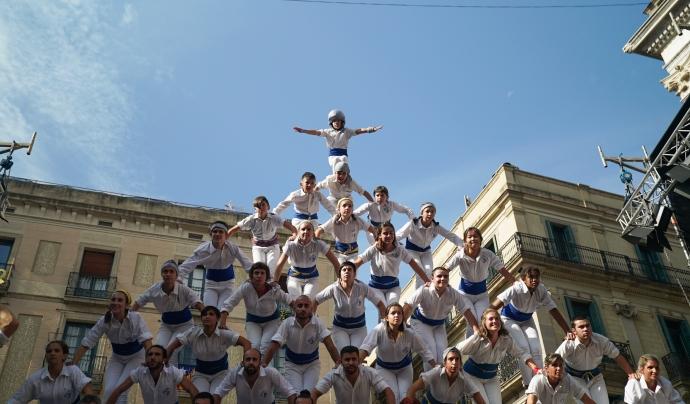 Imatge d'una de les colles falconeres participants a la Mercè 2019 Font: Ajuntament de Barcelona