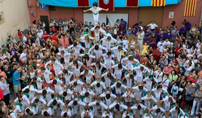 Els Falcons de Vilafranca, una de les colles sotasignants del comunicat conjunt Font: Falcons de Vilafranca