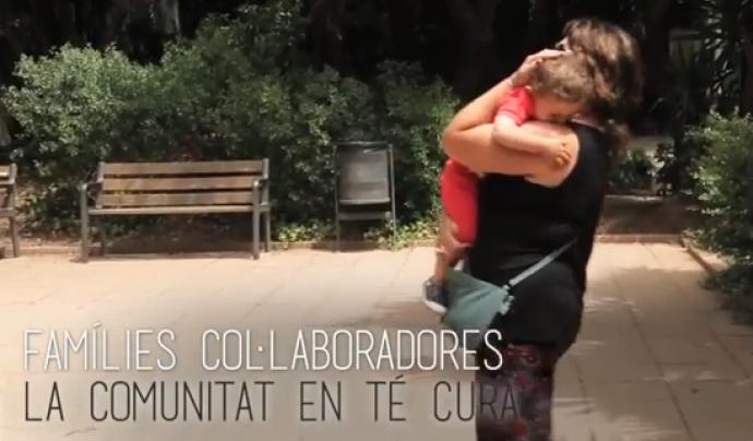 Fotograma del vídeo sobre el Servei de Famílies Col·laboradores Font: Canal de Youtube de Barcelona.cat