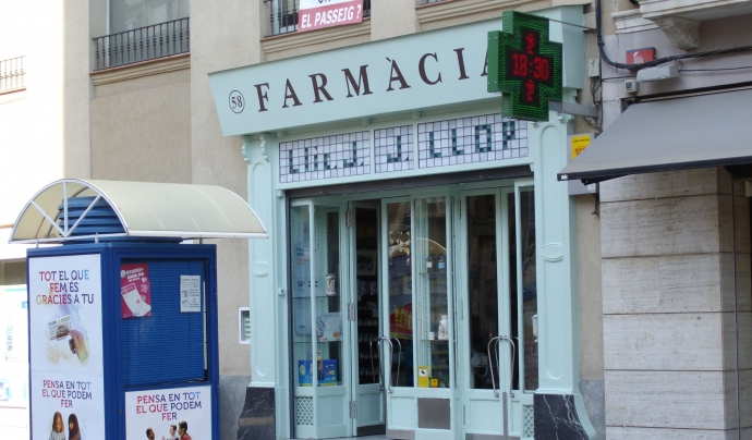 La campanya informativa ha implicat a les farmàcies. Font: Fundació Oncolliga