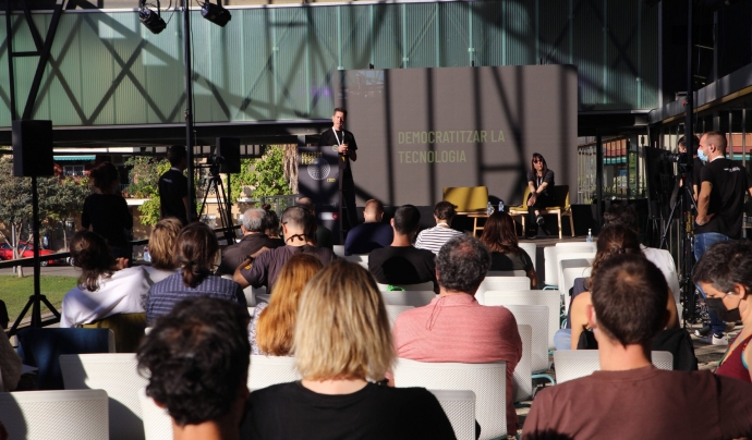 La primera jornada del Decidim Fest 2021 celebrada al Canòdrom. Font: Bru Aguiló