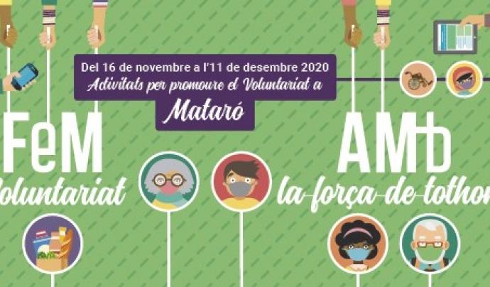 La Festa del Voluntariat de Mataró se celebrarà el dia 4 de desembre. Font: Ajuntament de Mataró