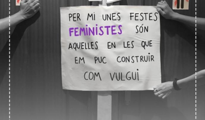 """Cartell de la campanya """"Inundem Gràcia de feminisme"""" Font: Assemblea de Dones feministes de Gràcia"""
