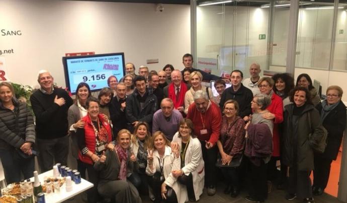 El recompte final de la Marató es va fer a l'Hospital de Sant Pau de Barcelona Font: Banc de Sang i Teixits
