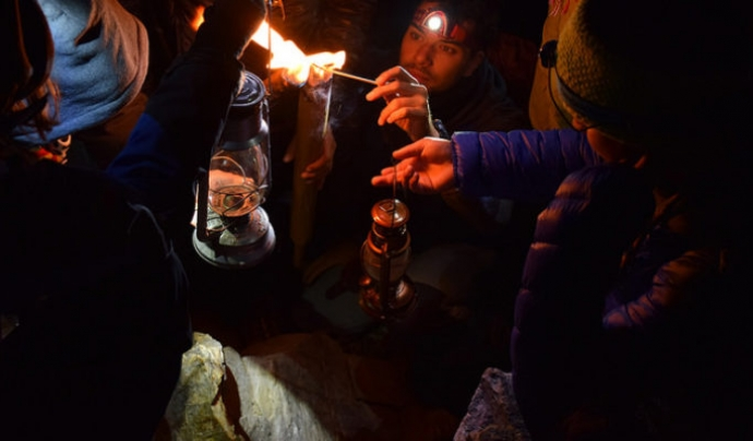 El repartiment de la Flama del Canigó  Font: Òmnium