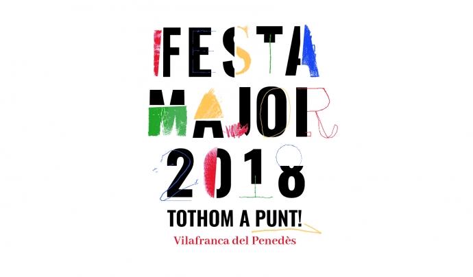 El logotip de la festa major de Vilafranca 2018 Font: Giny Comunicació