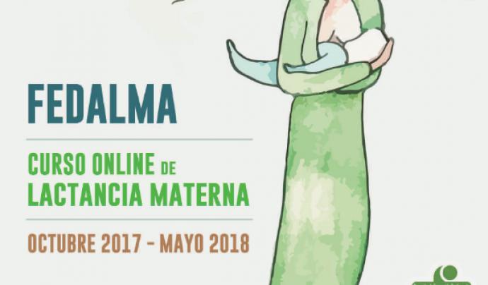 Portada del folletó sobre el curs de lactància materna 2017-2018 de Fedalma Font: Fedalma