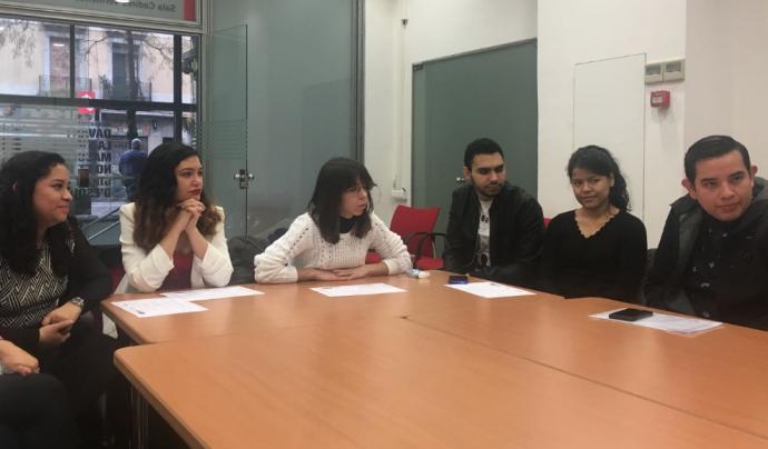Participants en el projecte comunitari i d'ocupabilitat en comunicació digital Font: Colectic