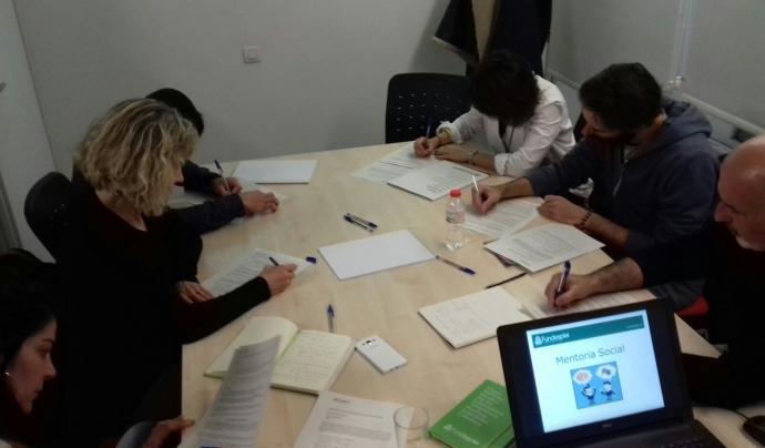 Sessió de formació sobre el projecte de mentoria de Fundesplai.