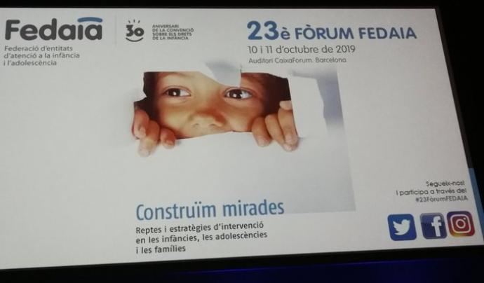 Les jornades de Fedaia d'aquest any tractaven sobre els reptes i les estratègies d'intervenció en la infància, adolescència i famílies. Font: Fedaia. Font: Fedaia