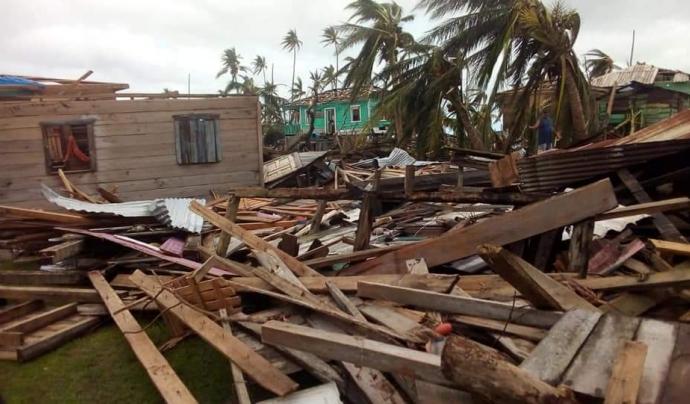 L'huracà ha causat danys molt greus en moltes zones d'Amèrica Central.  Font: Acción contra el Hambre