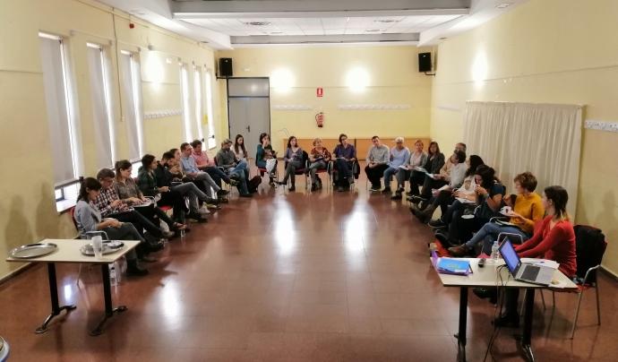 L'assemblea del projecte 'Marianao TéCor', reunida.  Font: Fundació Marianao