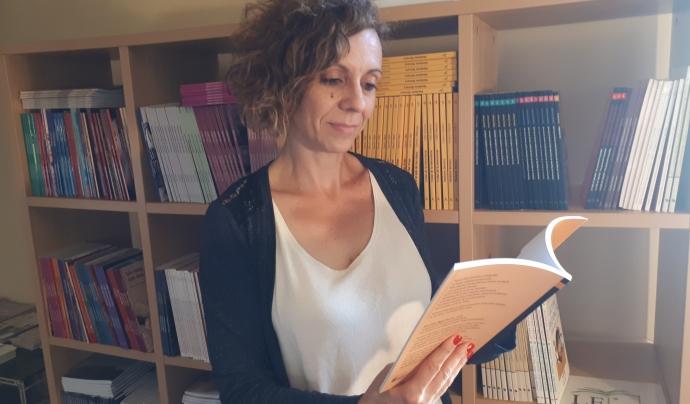 Laia Vidal treballa al departament de Comunicació de l'Associació Lectura Fàcil.  Font: ALF