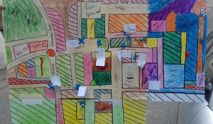 Mapa de barreres arquitectòniques de Figueres elaborat pels escoltes.