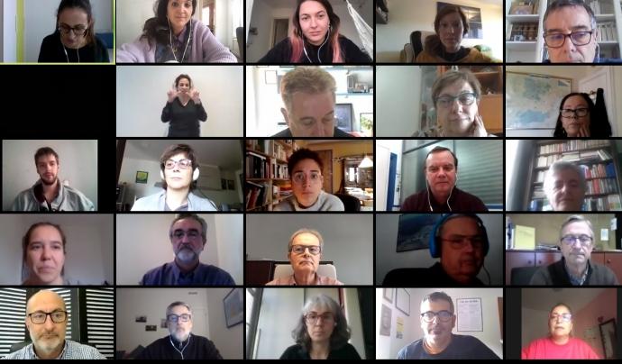 Fins a 50 associacions i entitats han posat en comú idees i solucions en aquesta jornada virtual. Font: DGACC