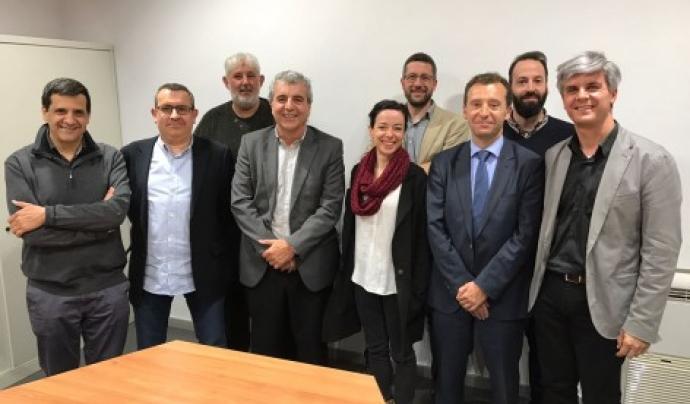 Representants de les entitats que formen part de la nova associació Font: AESC