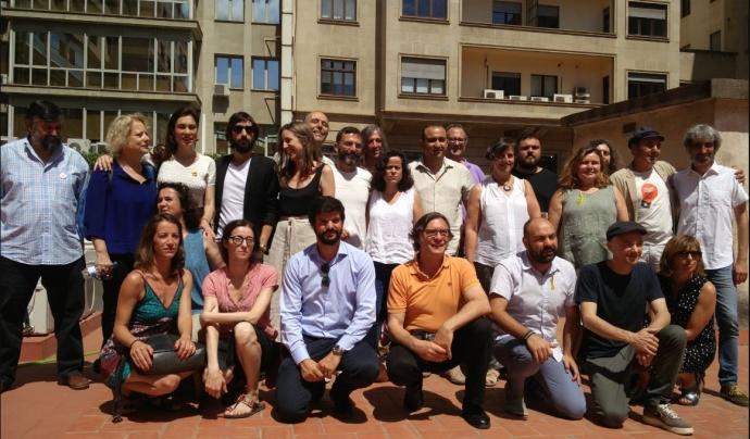 Foto de família del manifest 'Drets i llibertats'