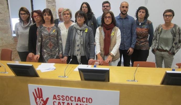 Els i les familiars que han creat la plataforma, el dia de la presentació Font: Europa Press