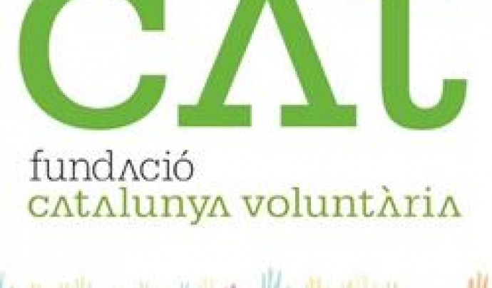 Logo de la Fundació Catalunya Voluntària. Font: Fundació Catalunya Voluntària