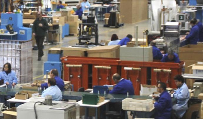 El magatzem de la fundació, en el qual també treballen els seus usuaris i usuàries