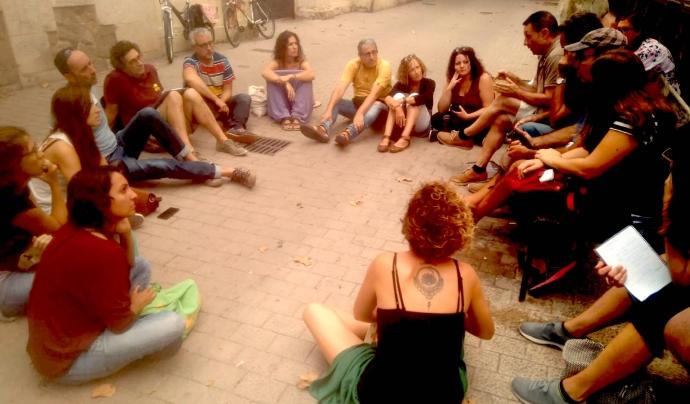 Reunió entitats acte 20 Garraf pel Clima a Vilanova i la Geltrú Font: Marta Rius