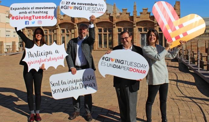L'equip de #GivingTuesday a Catalunya.  Font: Giving Tuesday