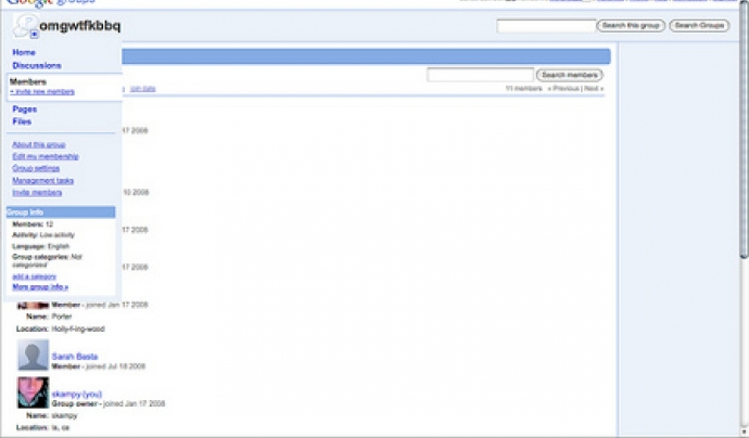 Google Groups permet gestionar grups de discussió amb llistes de correu.