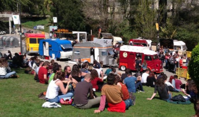 'Foodtrucks' a la UAB, els camions de menjar que s'instal·len durant la Setmana saludable i sostenible