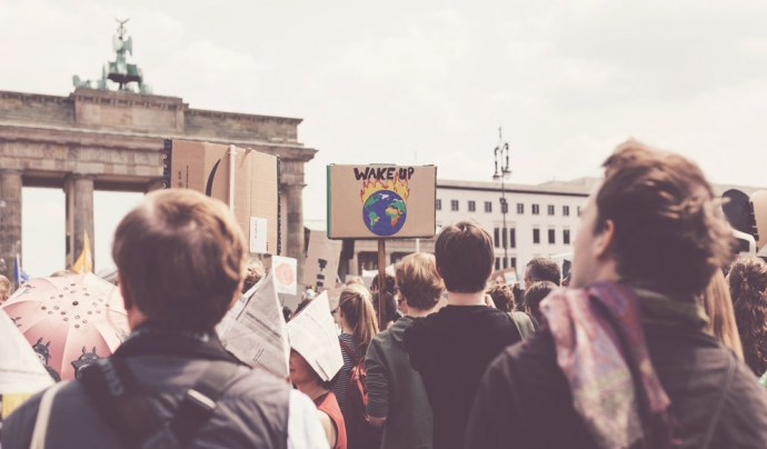 Manifestants per la lluita ecologista. Font: Nico Rolcke