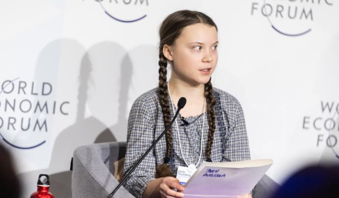 Greta Thunberg, activista adolescent impulsora de 'Fridays for future' Font: Flickr