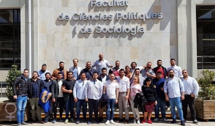 Un grup d'alumnes del GAU el dia que es van presentar a les Proves d'Accès a la Universitat